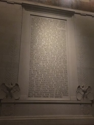 The text of the speech, from the Lincoln memorial in DC