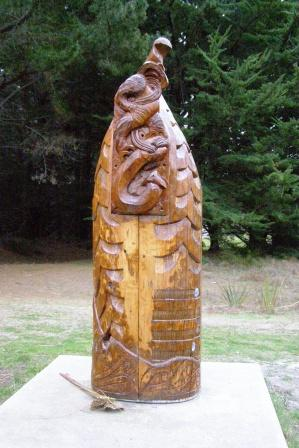 view of the carving at the spit