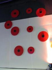273 poppies line the walls