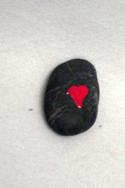 dieses Herz ist auch mit Nagellack gemalt