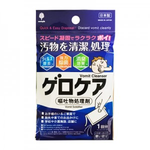 ゲロケア(嘔吐物処理剤)   入浴剤,蚊取り線香の紀陽除蟲菊/