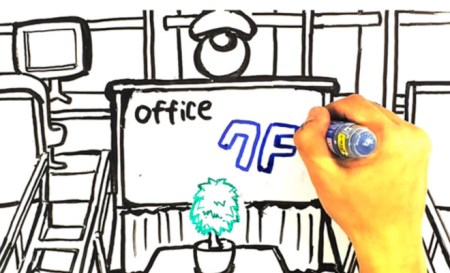 コワーキングスペースの手書き動画を作成しました