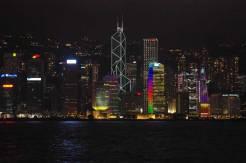 香港夜景 九龍から香港島の眺め