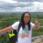 Janice at The Chocolate Hills Bohol