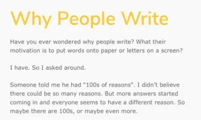 Why people write Atomic essay