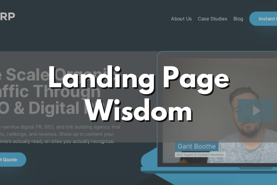 creating a landing page