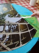 I used watered down PVA glue to stick the collage together.