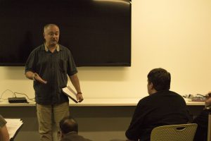 Ku Professor addresses crowd