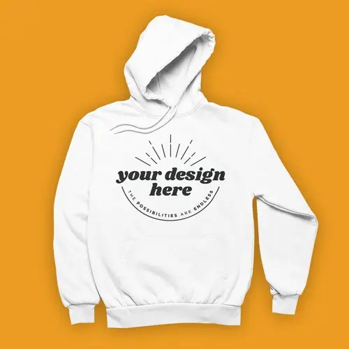 Hoodie White Frontal
