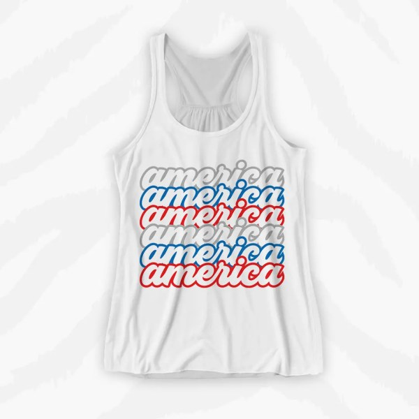 America Repeat Graphic Tank Holiday