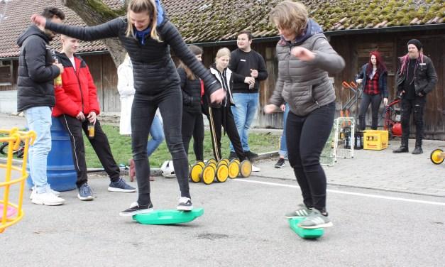 Spielmobil-Seminar am Samstag, 6. April 2019 auf dem Parkplatz am Schlachthof in Geislingen