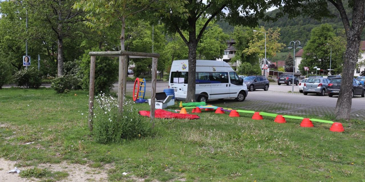 Erste Spielmobilaktion am Skatepark in Geislingen!