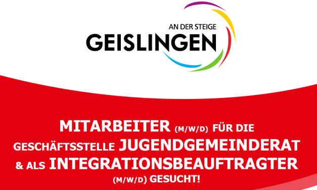 MITARBEITER (M/W/D) FÜR DIE GESCHÄFTSSTELLE JUGENDGEMEINDERAT & ALS INTEGRATIONSBEAUFTRAGTER (M/W/D) GESUCHT!