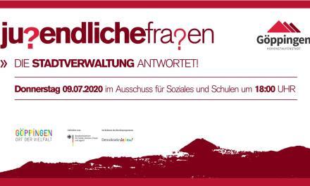 """Neues Format """"Jugendliche fragen – die Stadtverwaltung antwortet"""""""