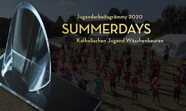 """Jugendarbeitsgrämmy 2020 geht an die """"Summerdays"""" der Katholischen Jugend Wäschenbeuren!"""