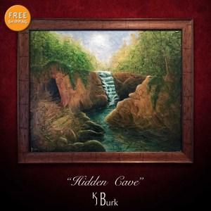 KJsArtStudio.com | Hidden Cave ~ Original Heavily Textured Landscape Painting by KJ Burk