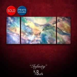 KJsArtStudio.com | Infinity ~ Original Abstract Triptych KJ Burk
