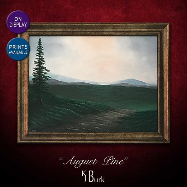 KJsArtStudio.com | August Pine ~ Original Minimalistic Landscape Painting by KJ Burk