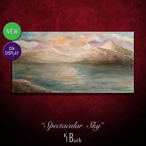 KJsArtStudio.com | Spectacular Sky ~ Original Textured Landscape Painting by KJ Burk
