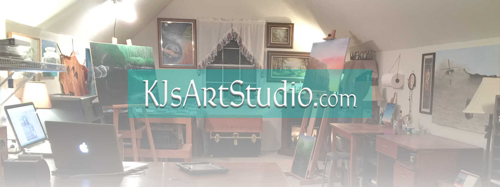 KJ's Art Studio ~ KJsArtStudio.com | Original Fine Art by American Fine Artist, KJ Burk. ~ Oil Paintings, Acrylic Paintings, Mixed Medium Art, Pastel Paintings, Watercolor Paintings, Illustrations and Digital Graphic Art