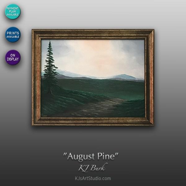August Pine - Original Landscape Painting by KJ Burk