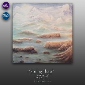 Spring Thaw - Original Heavily Textured Mixed Medium Contemporary Painting by KJ Burk