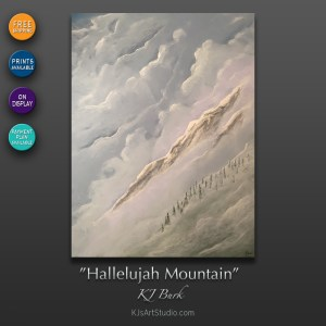 KJ's Art Studio | Hallelujah Mountain by Fine Artist, KJ Burk