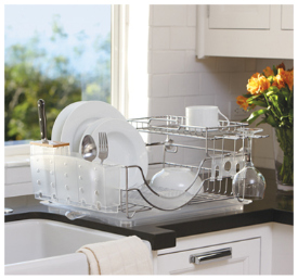kitchen utensil rack lowes remodeling simplehuman flip-top dishrack | cool tools