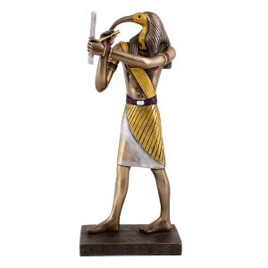 Thoth the Egyptian God of Knowledge and Wisdom Figurine in Cold Cast Bronze