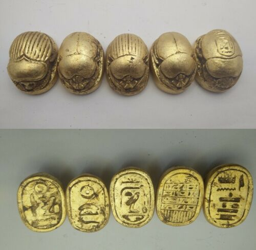 5 RARE ANCIENT EGYPTIAN ANTIQUE SCARAB Blank Stone 1231-1105 BC