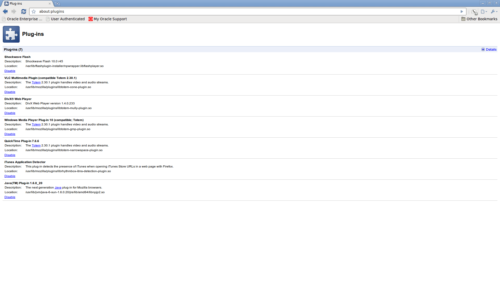 Oracle E-Business Suite 11i on Chrome in Ubuntu 10.04