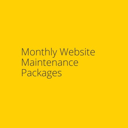 Monthly Website Maintenance Packages