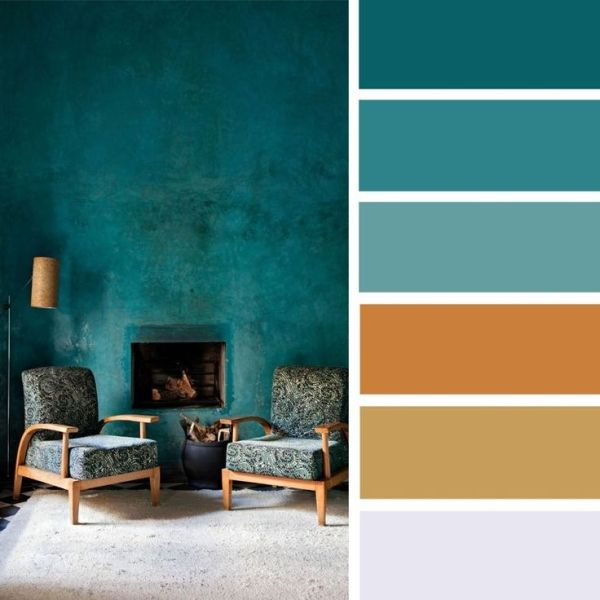 100 Color Inspiration Schemes _ Brown + Gold + Teal Color Palette #colorpalette #palette #colors by alyce