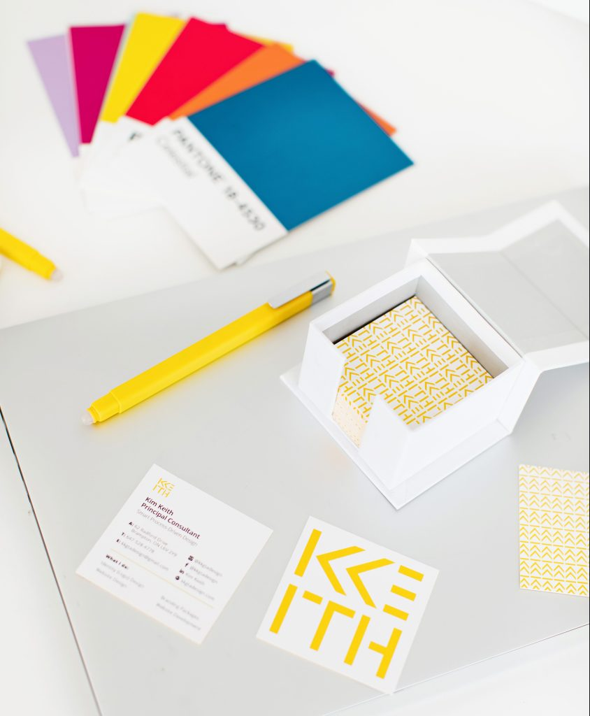 color swatches and business cards