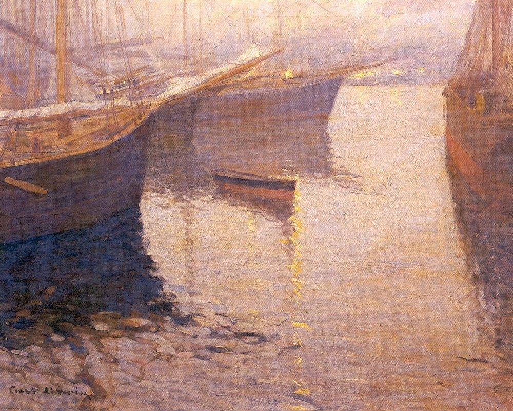 Константин Алексеевич Коровин. Белая ночь в Северной Норвегии. 1890-е