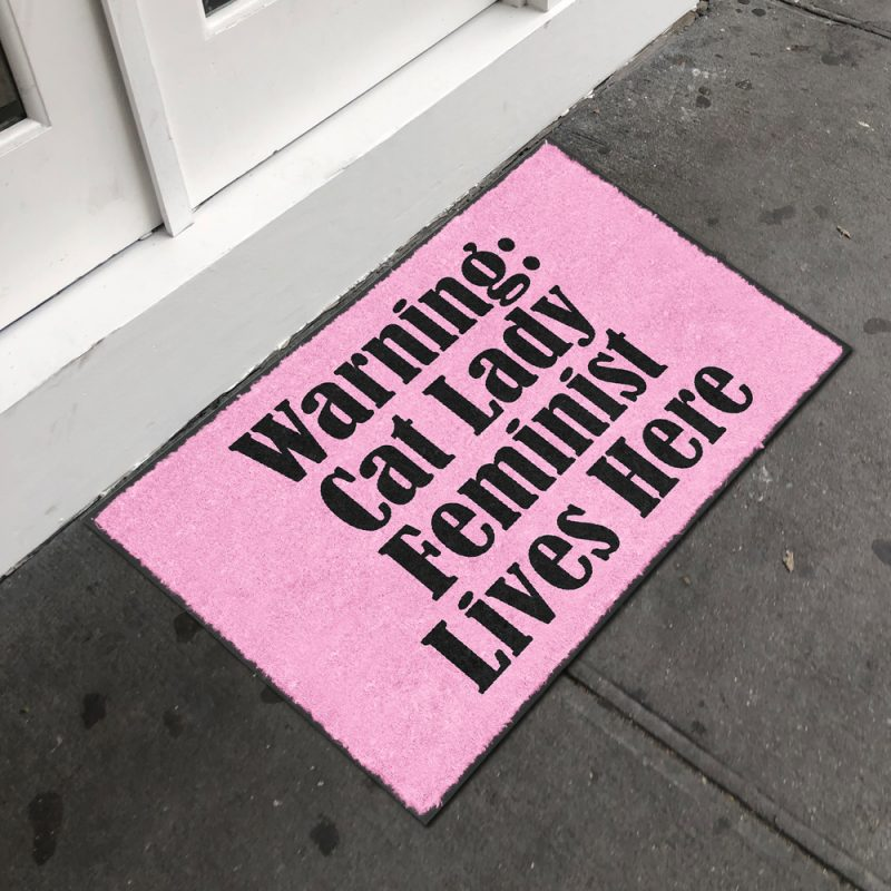 Cat Lady Feminist Doormat Front Door