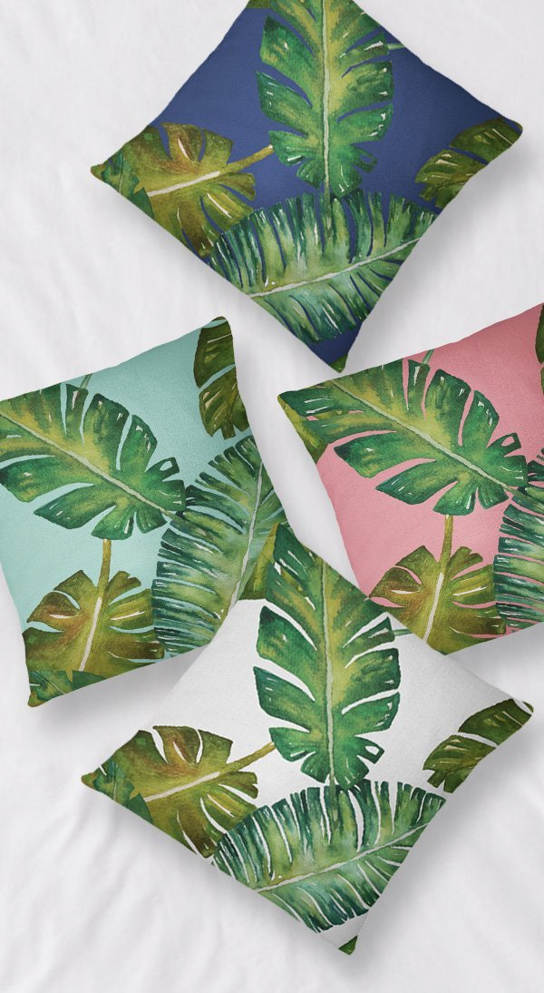 Palm Throw Pillows