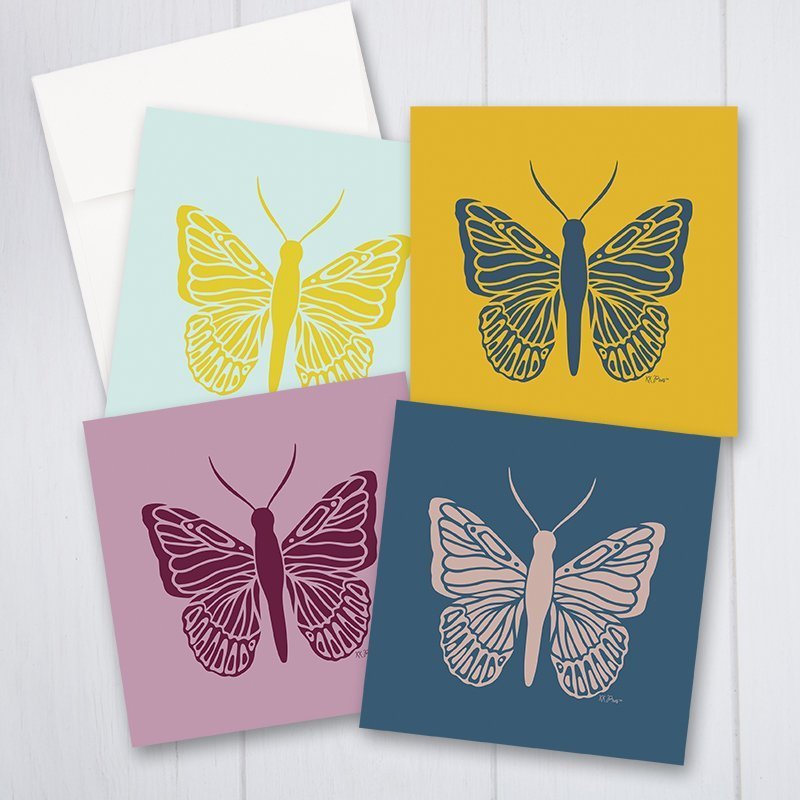 Butterfly Folded Note Cards