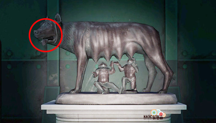 動森博物館藝術品鑑定充滿母愛的雕塑-假