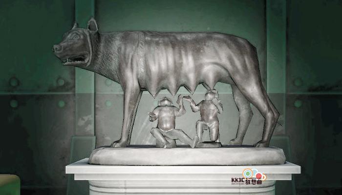 動森博物館藝術品鑑定-充滿母愛的雕塑-真