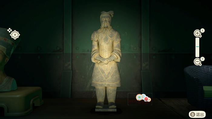 動森博物館藝術品鑑定-武士的雕塑-真