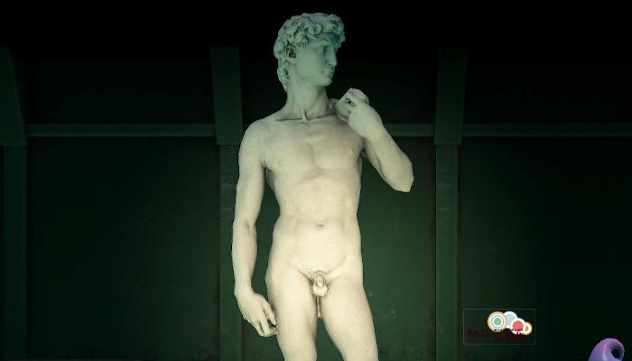 動森博物館藝術品鑑定-英挺的雕塑-真