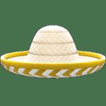 動森 呂遊物品 墨西哥草帽-白色