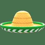 動森 呂遊物品 墨西哥草帽-自然色×绿色