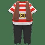 動森 海盜物品 海盜服-紅