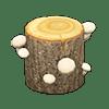 動森 蘑菇季 白色蘑菇樹幹