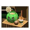 動森 萬聖節 萬聖節甜點盤-綠.png