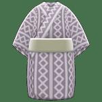 動森煙火大會-歌舞伎浴衣-灰色