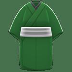 動森煙火大會-男性簡便和服-綠色