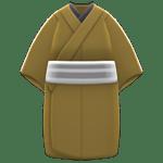 動森煙火大會-男性簡便和服-芥末黃